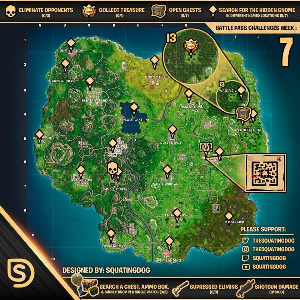 List Of All Challenges For Fortnite Battle Royale Week 1